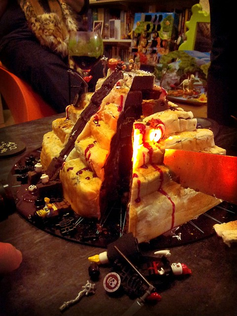 Giant Bloodstained Blade bisects the cake!