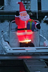Santa out for a sail.