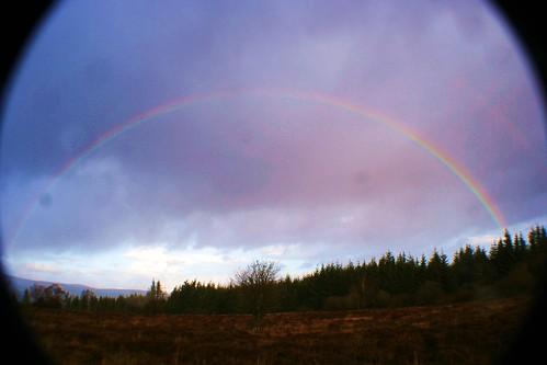 Rainbow over Sherriffmuir Battlefield, Scotland