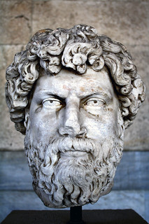 Image of Ancient Athenian Agora near Athens. head athens greece bust marble agora stoaofattalos