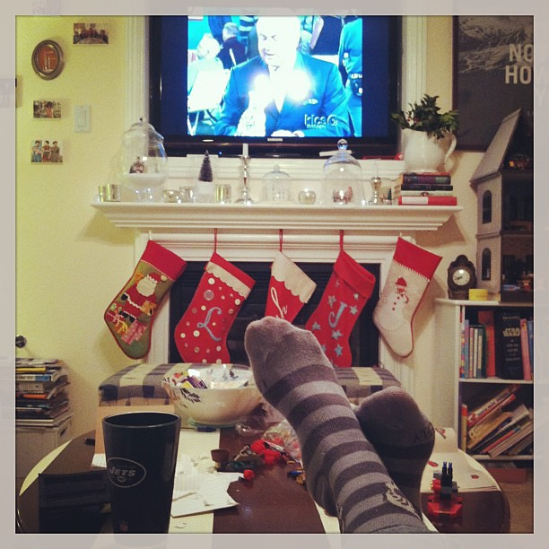 Striped socks, Antiques Roadshow, Christmas stockings.