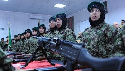 Afghanistan women soldiers trained by US-NATO forces now occupying the Central Asian nation. One woman soldier killed a US contractor on December 24, 2012. by Pan-African News Wire File Photos