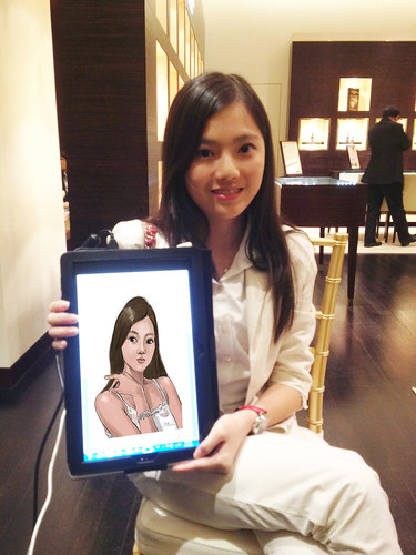digital portrait live sketching for Vacheron Constantin - 3a