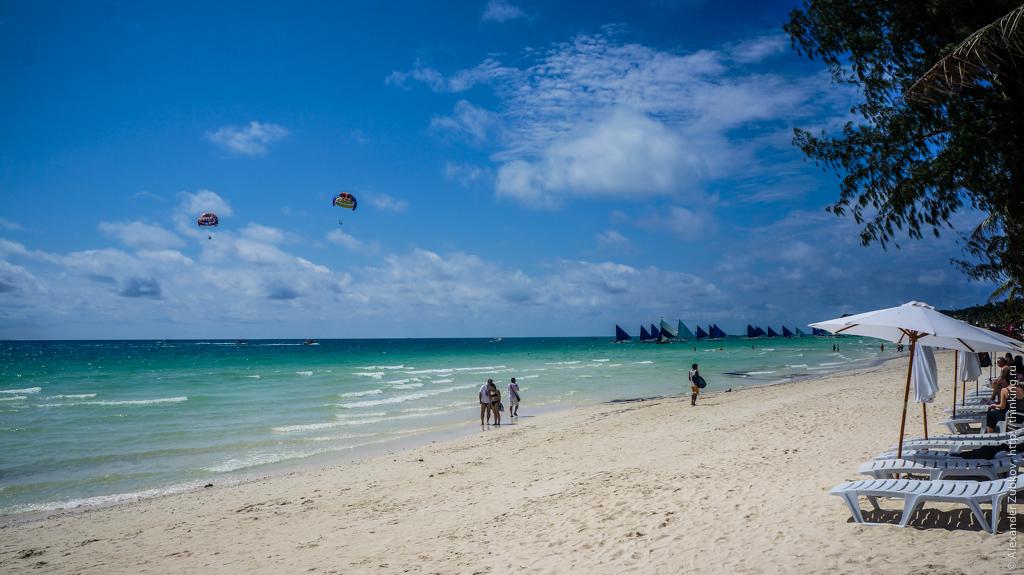 Пляж на острове Боракай