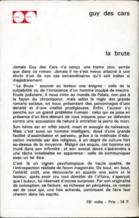 La Brute, by Guy des CARS