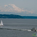 Mount Rainier and Puget Sound - Seattle, Washington