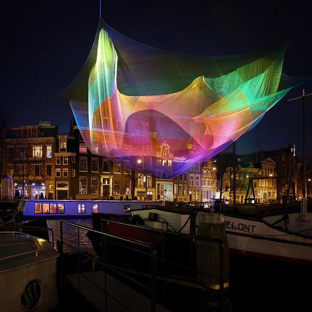 Light sculpture Amsterdam 1.26 in the enchanting limelights