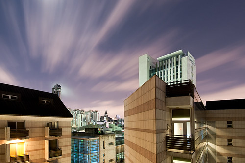 sky moon long exposure university dorm korea full seoul ewha scapescolor
