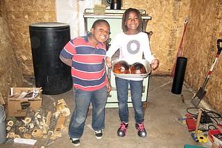 Look! We roasted a pumpkin!