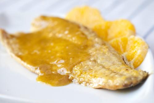 Llobarro amb taronja