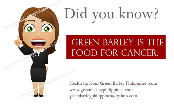 is green barley good for cancer