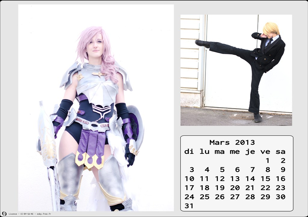 related image - Calendrier Cosplay 2013 - 03 - Mars