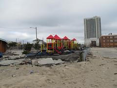 Atlantic City Boardwalk damage
