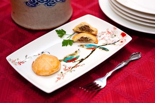 Homemade savory goose liver pastries (鵝肝酥)