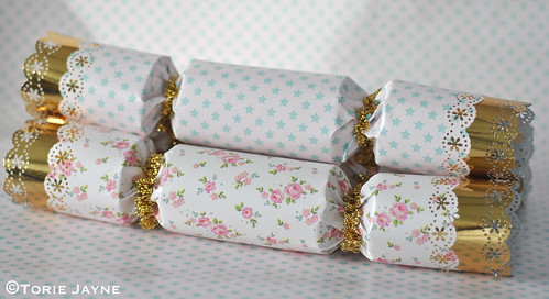Pretty hand made Christmas crackers