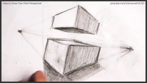 2D design how to draw in two point perspective 025