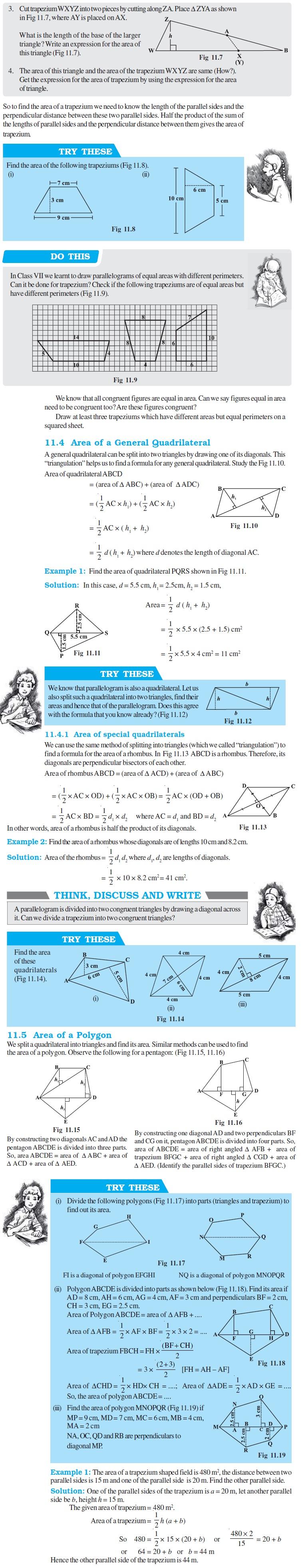 NCERT Class VIII Maths Chapter 11 Mensuration