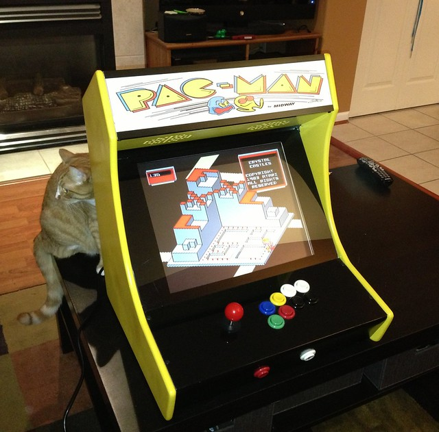 Another awesome Craigslist trade. Scored a bartop arcade game with 5500 retro games