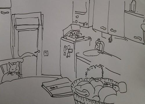 kosma in kitchen