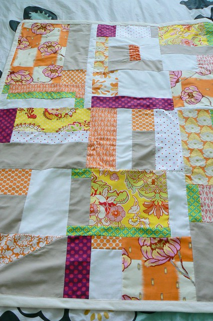 Improv Orange Baby Blanket for Baby Quetzalli