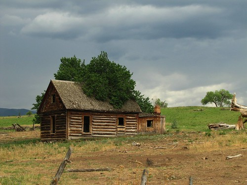 abandoned architecture clouds rural log colorado decay logbuilding collbran