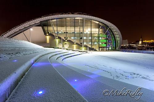 winter snow night sage nightscene sagetheatre