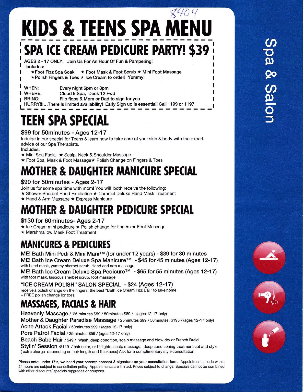 Spa W My 10 Yo Cruise Critic Message Board Forums