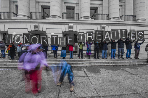 Idle No More,  Madison, Wisconsin 1/13/13.