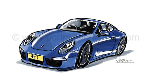 porsche 911 sketch style proposal 1 - round 2 (watermarked)