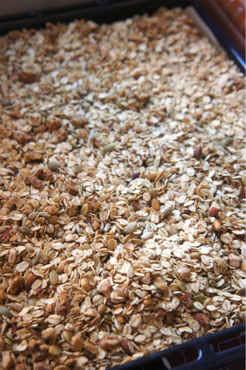 Homemade Granola V2.0 - baking