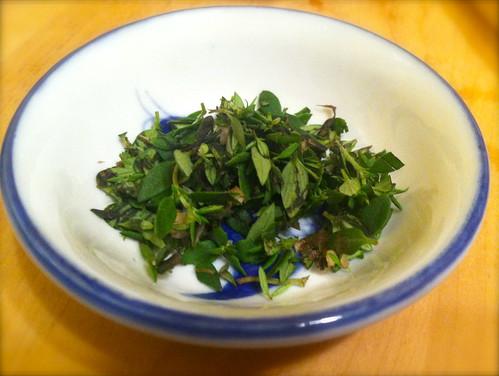Chard Mushroom and Thyme Ravioli - Homemade