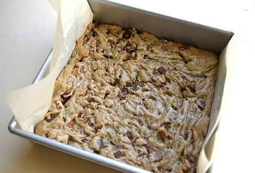 Bourbon Blondies baked