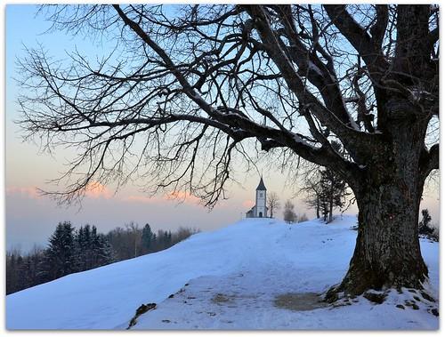 winter church evening slovenia slovenija jamnik kropa gorenjska cerkev večer nikond7000 silvyp