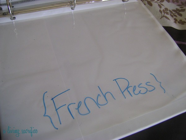 french press sleeve