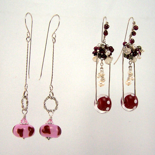 Valentine's Lampwork Earrings