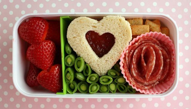 Preschooler Valentine's Bento #393