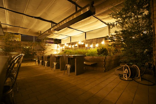 Outside patio at Bar Agricole