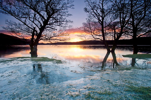 uk ice nature beautiful sunrise landscape scotland colours scenic ard lochard