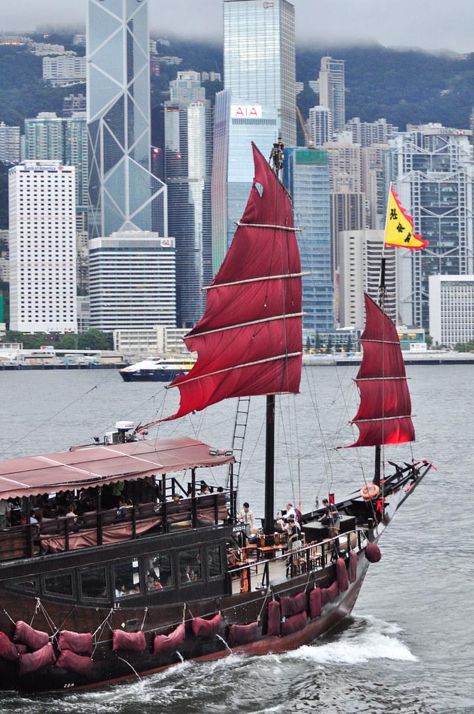 View from Tsim Sha Tsui Promenade 尖沙咀海濱花園星光大道 ...