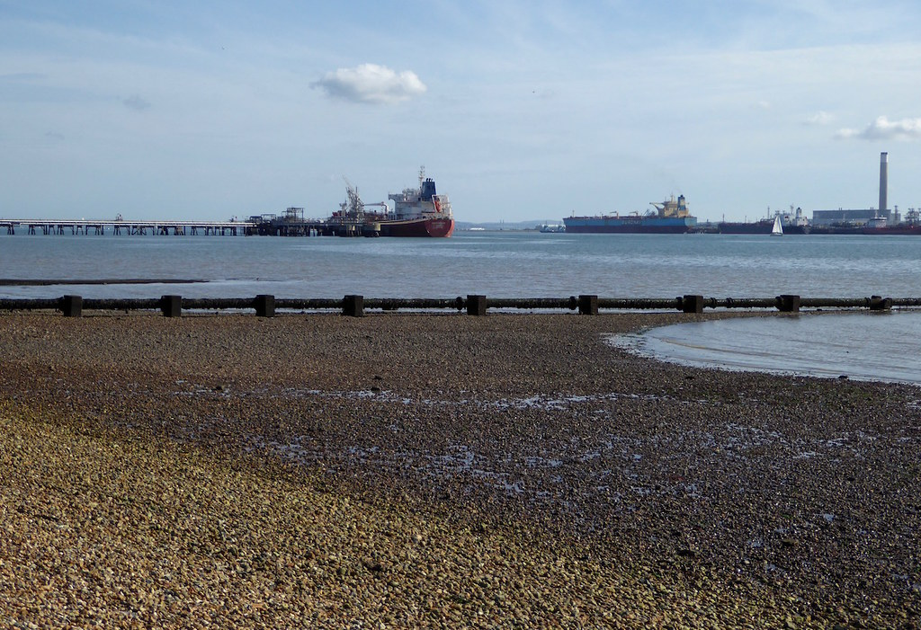 Ships at low tide, Southampton Water Botley to Netley walk