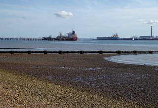 Ships at low tide, Southampton Water