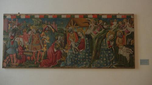 DSCN3790 _ Natività , adorazione dei magi, Maestro dell'Adorazione di Ferrara