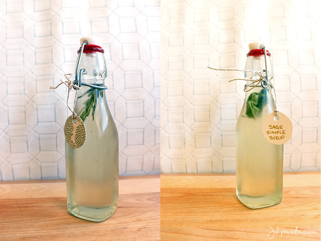 Julip Made herb simple syrup DIY holiday gift