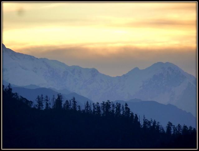 Sunset on Himalaya . .