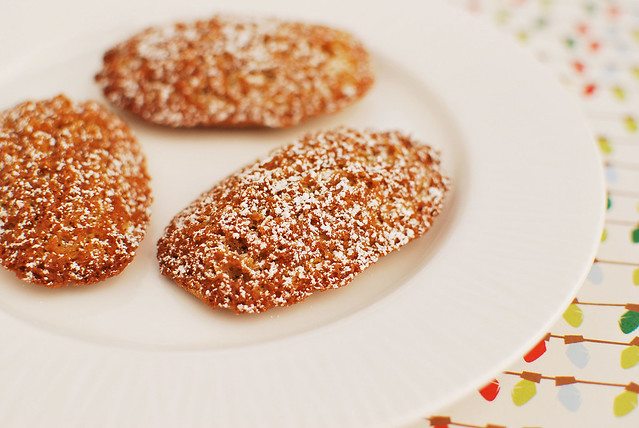 Gingerbread Madeleins from Fake Ginger inkatrinaskitchen.com #BringtheCOOKIES