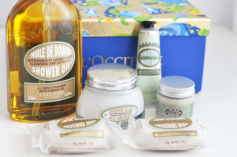 l'occitane almond christmas gift set 1