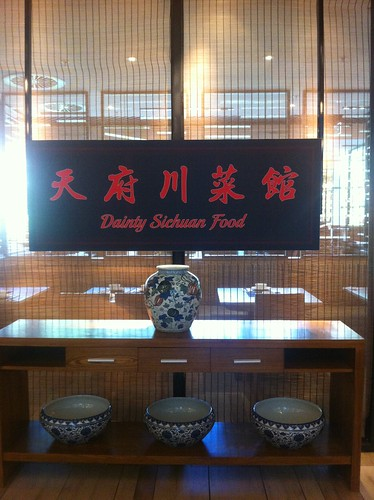 Dainty Sichuan Food sign