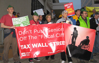 Nationwide Vigil for Robin Hood Tax 12/10/12