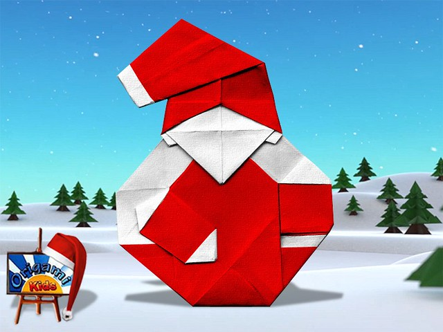 Origami Santa Claus by Tomoaki Ono