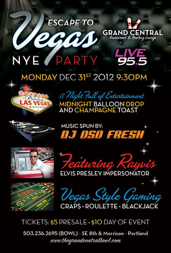Escape to Vegas Portland New Year's Eve @ Grand Central Bowl